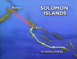 Map of the Solomons